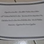 4ème indice : message à déchiffrer en supprimant les lettres en trop