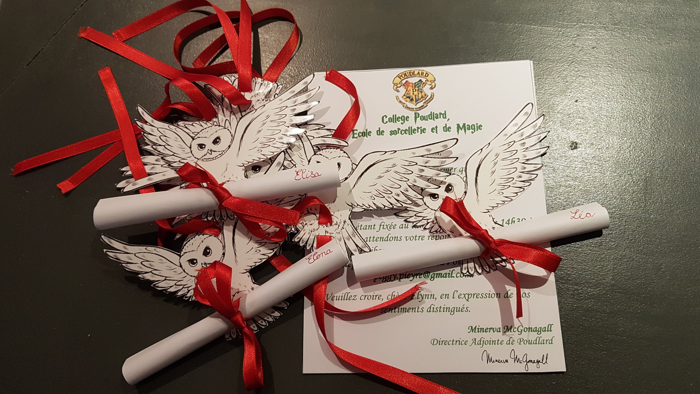L'anniversaire Harry Potter de Leane (10 ans) 1/4 : les invitations - PeggyCrea